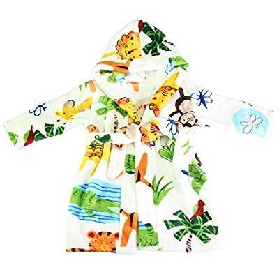 MyKazoe Toddler / Kids Ultra Soft Plush Bath Robe With Hood