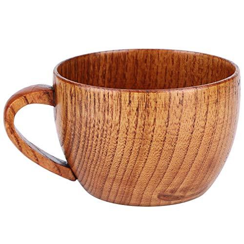 Tazas de madera, taza de madera natural Café de madera Tazas de cerveza Leche de desayuno Taza de consumición del hogar