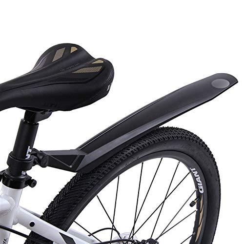 Leileixiao Piezas de Bicicleta Plastic Lightweight Bike Fender MTB Bicycle Mudguard for 24 26 27.5 29 Pulgadas Ciclismo Bike Bike Frente/Rueda Trasera Fender (Color : Black)