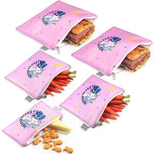 Reusable Snack Bags for Kids by Urban Green, Snack Bags Reusable and...