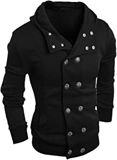 Men Fashion Autumn Winter Hooded Sweater Top Blouse Mens Smart Tops Dress Shirts White Colorful