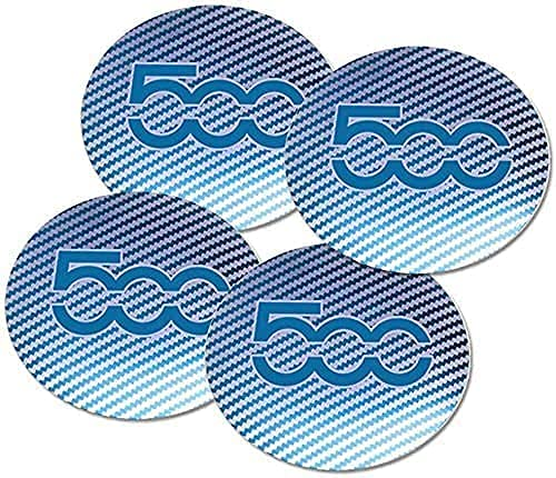4Pcs Auto Tapas Centrales Rueda Cubierta Cubo Adecuado para Fiat 500, Impermeable Antióxido Neumáticos Modelado Decoración Accesorios