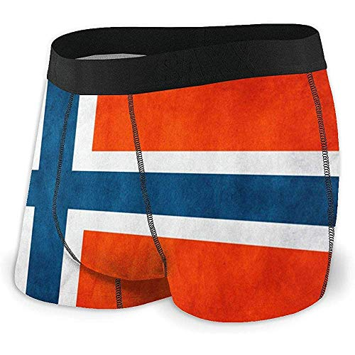 Web--ster Breathing Yoga Men 'S Norway Flag Sportunterwäsche Baumwollstretch-Boxershorts