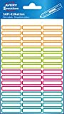 Avery Zweckform 63027 Lot de 102 étiquettes autocollantes pour stylos (mini- étiquettes adhésives permanentes, résistantes et inscriptibles pour stylos)