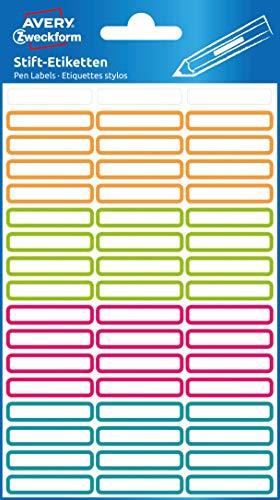 Avery, 63027, etichette adesive per penne, 102 etichette per nome, permanenti e resistenti, per penne