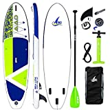 "AKD Sealion Tabla Paddle Surf Hinchable 10'6"" 320x81x15cm Tablas Paddle 150kg / 318L, Bomba con Manómetro, Pala Deportiva de Aluminio Ajustable, Mochila y Correa (Verde)"