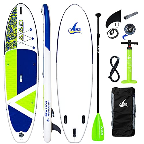 AKD Sealion Tavole Gonfiabili da Stand Up Paddle 10'6' 320x81x15cm | 150kg/318L Kayak Surf, Pompa...