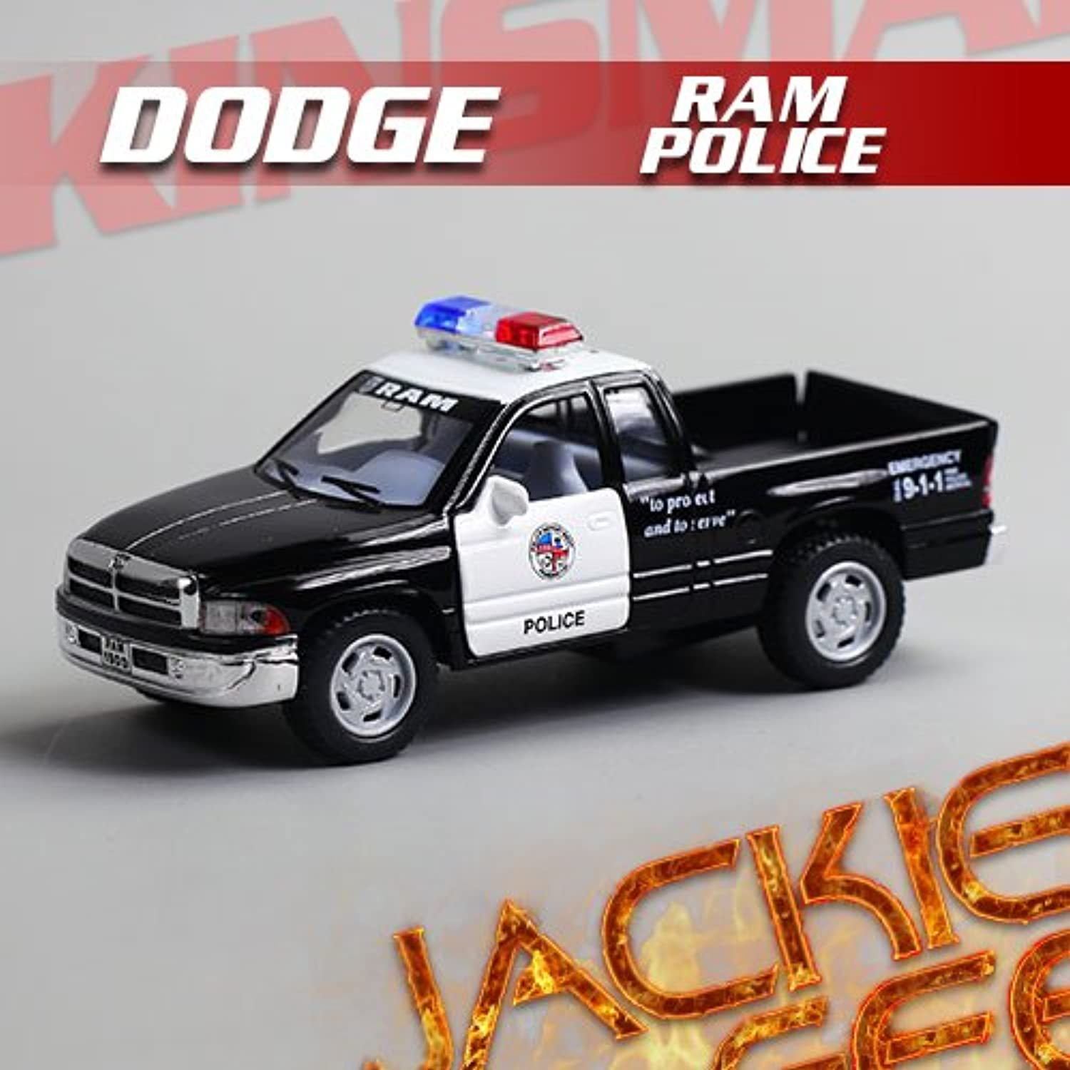 Generic 1pc 1 44 12.5cm Mini Delicate KINSMART Dodge RAM Pickup Truck Police Simulation Model Alloy car Decoration Gift Toy