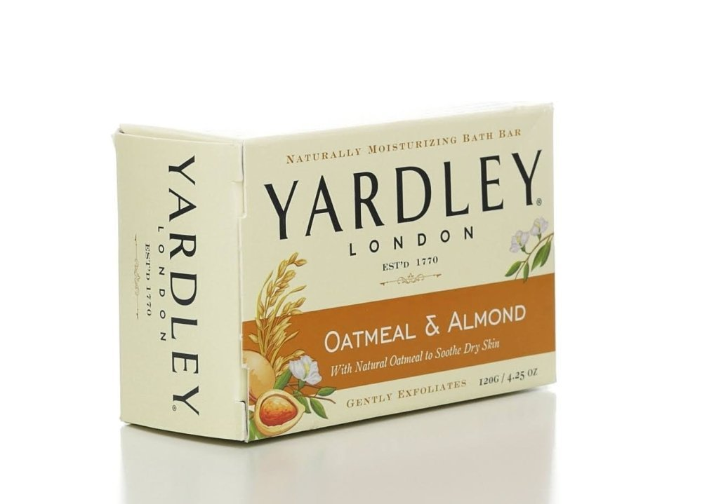 Yardley of London Naturally Moisturizing Bath Bar - 4.25 Oz Bar (Pack of 8) (Oatmeal & Almond)