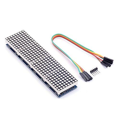 HiLetgo MAX7219 Arduino用ドットマトリクスモジュール4-in-1ディスプレイ5pinライン
