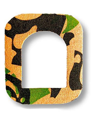 FixTape ademend bevestigings-tape voor OmniPod I Zelfklevende patch met gat voor insuline pomp zonder slang I bijzonder huidvriendelijk en watervast in moderne designs I 7 stuks (Jungle)