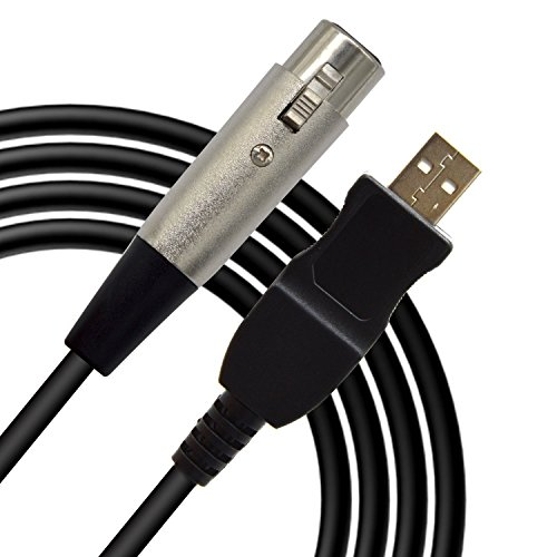 LanLan Microfoon, USB, mannelijk, 3-polig, XLR-aansluiting, microfoon, studio, audio, verbindingskabel, kabel, adapter, microfoon, studiokabel, verbindingskabel