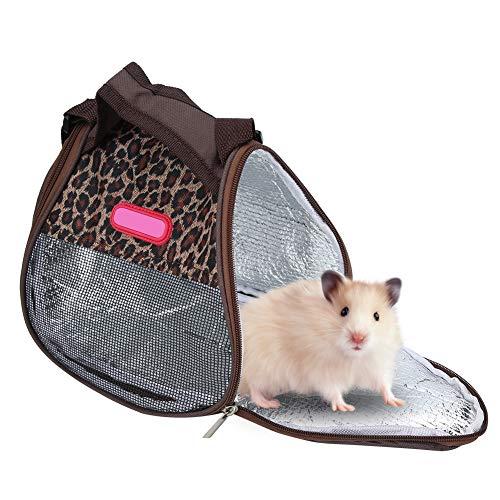 Pssopp Hamster Tragetasche Meerschweinchen Igel Ausgehende Reise Handtasche Atmungsaktive Ratten Reise Tragetasche mit Seiten versehene Einkaufstasche(Hamster Tragetasche)