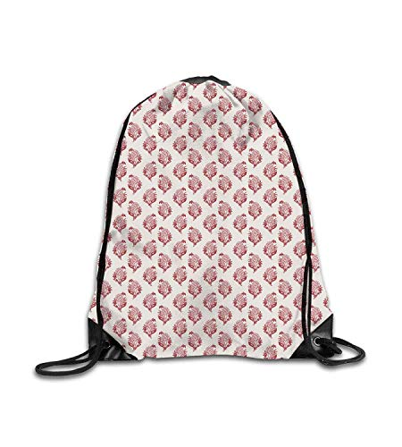 huatongxin Customized backpack Vintage Simplistic Floral Pattern with Jacobean Inspired Lovely Branches Motif EggVermilion Fitness beam backpack, sports backpack, school bag