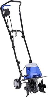 QILIN Electric Tiller, Electric Garden Tiller/cultivator, Small Soil Ripper, Tillage Width 32cm, Tillage Depth 22cm, Blue