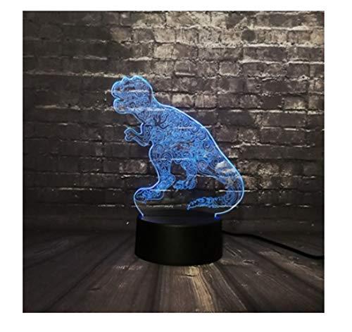 Leselampe Nachttischlampe Tischlampe Schreibtischlampe Tischleuchte Park Led Nachtlicht 3D Dinosaurier Licht Rgb 7 Farbwechsel Usb-Basisschalter Ausstellung Kid Christmas