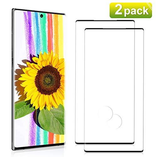 NONZERS [2 Pezzi] Vetro Temperato per Samsung Galaxy Note 10 Plus, Durezza 9H, Copertura 3D completa, Alta sensibilità Pellicola Prottetivasung Note 10 Plus
