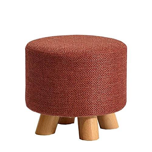 WGFGXQ Taburetes y pufs Redondos Taburete de Madera Maciza Taburetes de sofá creativos de Moda Taburete de Mesa de Centro Cambio de Zapatos Banco para Sala de Estar Pasillo 29 * 29 * 25cm