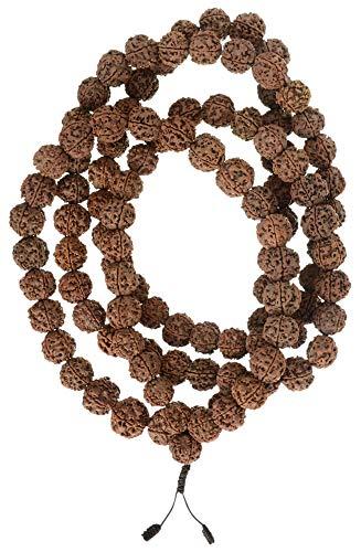 Mala aus Rudraksha beads - buddhistische Gebetskette mit 17 mm Perlen - Mala Rudras/Shiva
