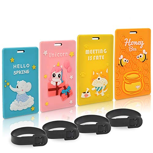 $1.19  Price Drop Set of 4 Silicone Luggage Tags No promo code needed
