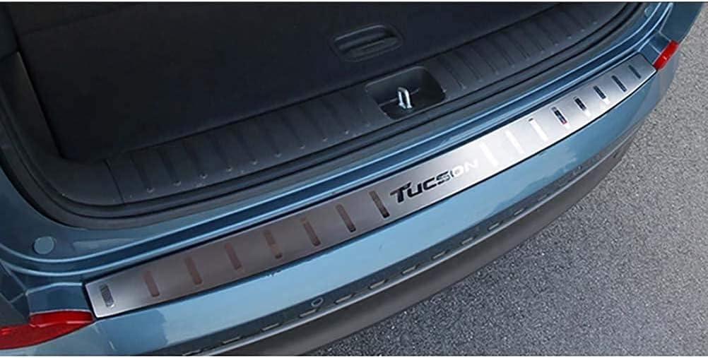 HCJGZ 1 Pieza De Acero Inoxidable Interior Protector De Parachoques Trasero Basculante Cubiertas De Maletero Ajuste Adecuado para Hyundai Tucson 2015 2016 2017 2018 Accesorios De Coche
