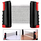 Jetcloud Table Tennis Net Rack,Replacement Retractable Ping Pong Net Portable Table Tennis Table Indoor Playing Multifunctional Net Accessory for Ping Pong Table,Office Desk,Dining Table,190 x 15cm