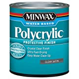 Minwax 233334444 Minwaxc Polycrylic Water Based Protective Finishes, 1/2 Pint,...