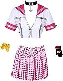 Poetic Walk Shin Megami Tensei Persona 4 Cosplay School Uniform Kujikawa Rise Costume (Womens-S, Red Set)