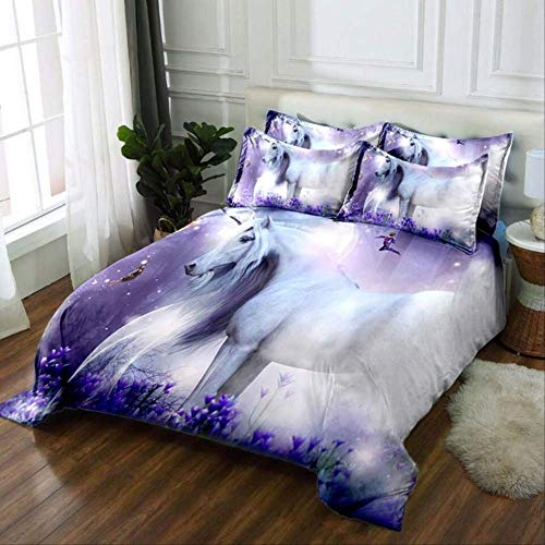 3d Bedding Set Duvet Cover Set With Pillowcases King Size Bedding Set Home Textiles For Home Decor Forest Unicorns