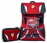 Promo Scuola Zaino Estensibile + Astuccio 3 Zip Ferrari Kids