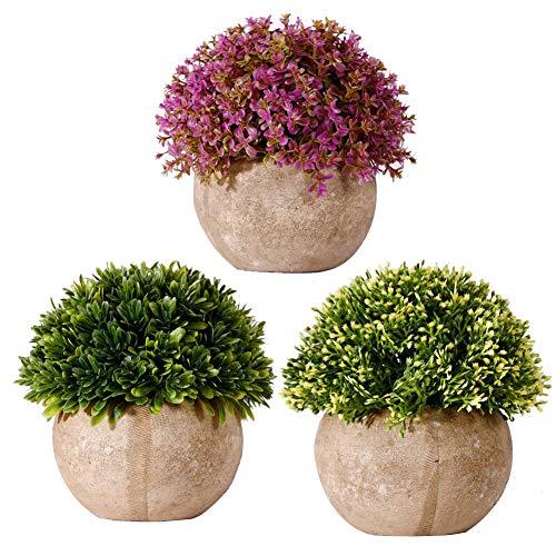 3 Sets van decoratieve planten in de Potted Kunstmatige Vensterbank, Woonkamer, Slaapkamer Familie Appartement Kantoordecoratie Ideaal Bruiloft Verjaardag Kerstcadeau A04