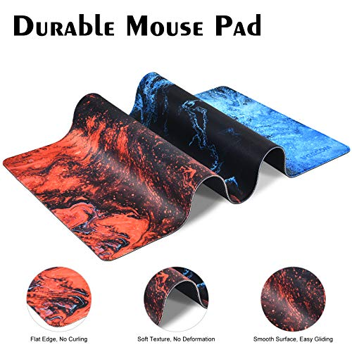 Gaming Mouse Pad, veecom Large Mouse Pad XL, Big Mouse Pad for Computer Gamer, Thick Gaming Mousepad Large 31.5×15.75In, Extended Keyboard Mouse Pads for Desk, Non Slip Mouse Mat (Blue) Photo #2