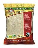 Arroz jazmín natural de comercio justo orgánico 5 kg BIO Fairtrade, arroz integral fragante, la mejor calidad tailandesa sin cáscara aromática, comercio justo de Tailandia, sabor exquisito, 5000 g