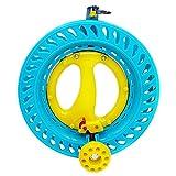 emma kites ロック式 ABSプラスチック 凧糸巻きリール 22cm 子供 大人用サイズ ボールベアリング イエロー&ブルー アウトドア凧揚げ