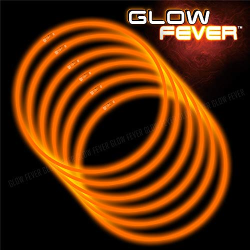 Glow Sticks Bulk 100ct 22'' Glow Necklaces with Connectors, for Party Festivals Raves Birthday Wedding, Orange