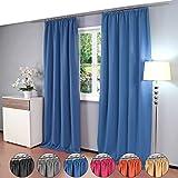 2 piezas Gräfenstayn® Alana - cortina térmica opaca de un solo color Cortina de oscurecimiento...