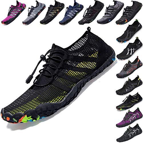 Mens Women Water Sport Shoes Barefoot Quick-Dry Aqua Socks for Beach Swim Surf Yoga Exercise, 7 M US Women / 6 M US Men