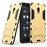 Anfire Hülle für Meizu M5C Schutzhülle, Rugged Armor Bumper Hülle Ultra Dünn Slim Kratzfest Anti-Fingerprint Glatt Abdeckung Eingebaut Halter Hybrid Hardcase für Meizu M5C (5.0