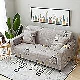 MKQB Funda de sofá elástica elástica para Sala de Estar, Moderna Funda de sofá Modular de Esquina en Forma de L Antideslizante Envuelto herméticamente NO.17 1seat-S- (90-140cm