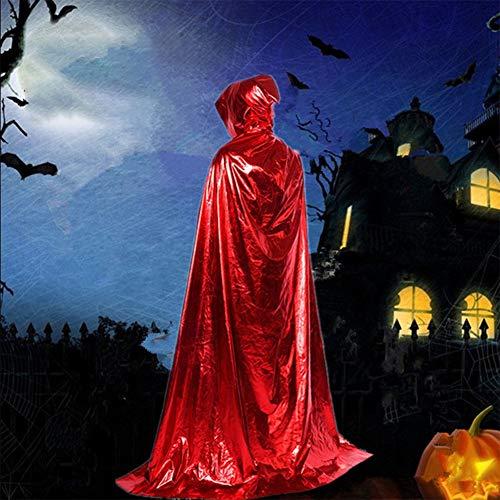YZZ Unisex volledige lengte capuchon volwassen fluweel Cape Halloween partij Cosplay kostuum mantel