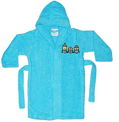alles-meine.de GmbH Frottee Bademantel -  Minions - Ich einfach unverbesserlich  - 5 bis 8 Jahre / Gr. 116 - 140 - 100 % Baumwolle - mit Kapuze - für Kinder / Mädchen & Jungen ..