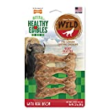 Nylabone NEB201VP4P Healthy Edibles Wild Bison Dog Treats | All Natural Grain Free Dog Treats Made In the USA Only | Small and Large Dog Chew Treats | 4 Count, Small: Up to 20 Lbs