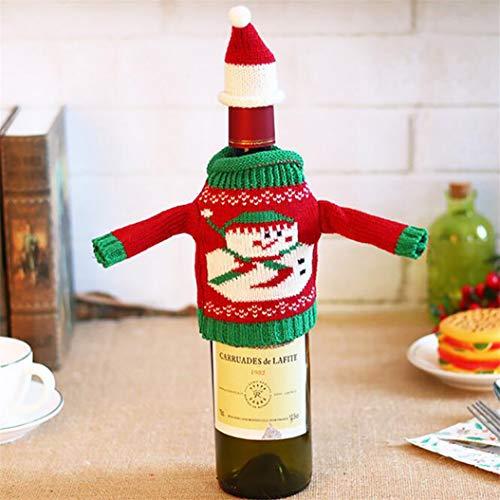 LPOQW Weihnachtsdekoration Weinflaschenabdeckung Weinflaschenverschlüsse Schöne Flaschenabdeckungen Kleidung Weihnachtstisch Ornamente Weihnachten Home Party Dekorationen Zubehör,Stil 3#