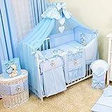 17tlg. Baby Bettwäsche-Set Babybett Komplett-Set Kinderbett Kinderbettwäsche für Babys und...