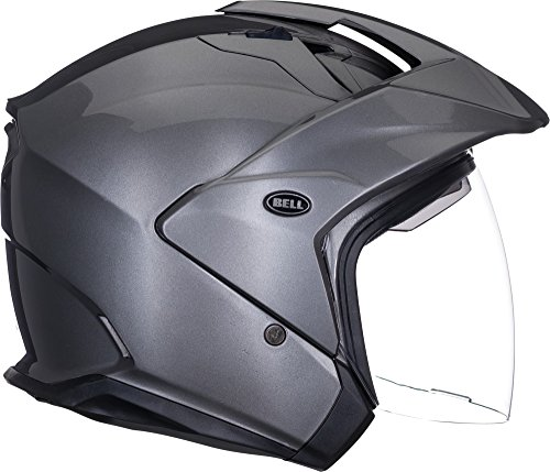 Bell Mag-9 Open Face Motorcycle Helmet (Solid Gloss Titanium, Large)