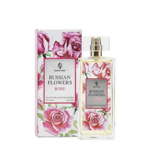 RUSSIAN FLOWERS Eau De Toilette per donne, 100ml - NUOVO profumo di fiori per lei (ROSE)