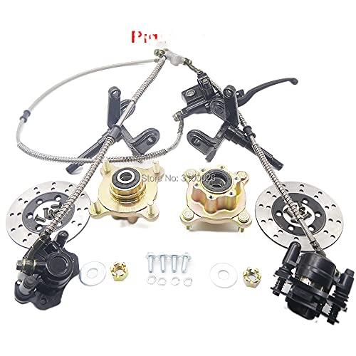 1 Unidades de dirección puntal nudillo husillos con cubo de rueda 130mm freno de disco ajuste para ATV 250cc 150cc eléctrico UTV Buggy Quad Bike Parts