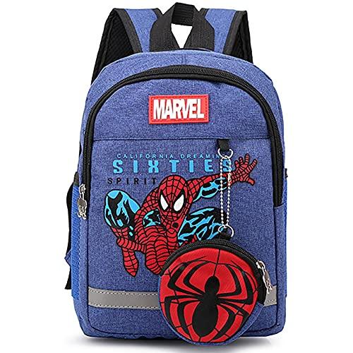PRETAY Zaino per Bambini Spiderman,Borsa 3D, Zaino Super Hero 3D Zaino Borse per Bambini Campeggio Escursionismo Zaini Scuola Elementare (Color : B, Size : S(30CM))