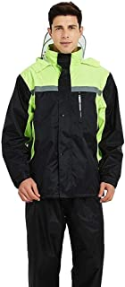 Yangdengwei Result Heavyweight Waterproof Jacket/Trouser Suit Adult Windproof Coat/Pants Set (Color : L)