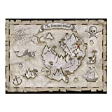 Nomorer 3D Puzzles for Adults 1000 Piece, Island Map Puzzles for Adults Skull Pirate Ship Kraken, Family Games